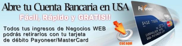 Cuenta Bancaria en ESTADOS UNIDOS GRATIS